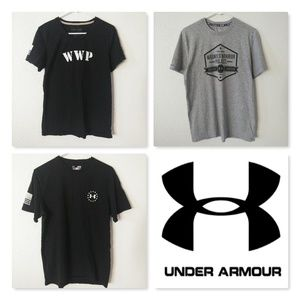 Under Armour Men's M Wounded Warrior Tee Shirt Lot